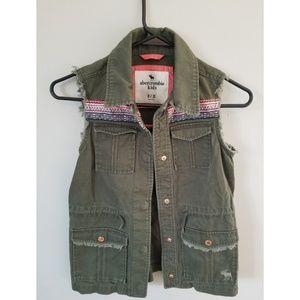 Abercrombie Kids Girls Jean Vest